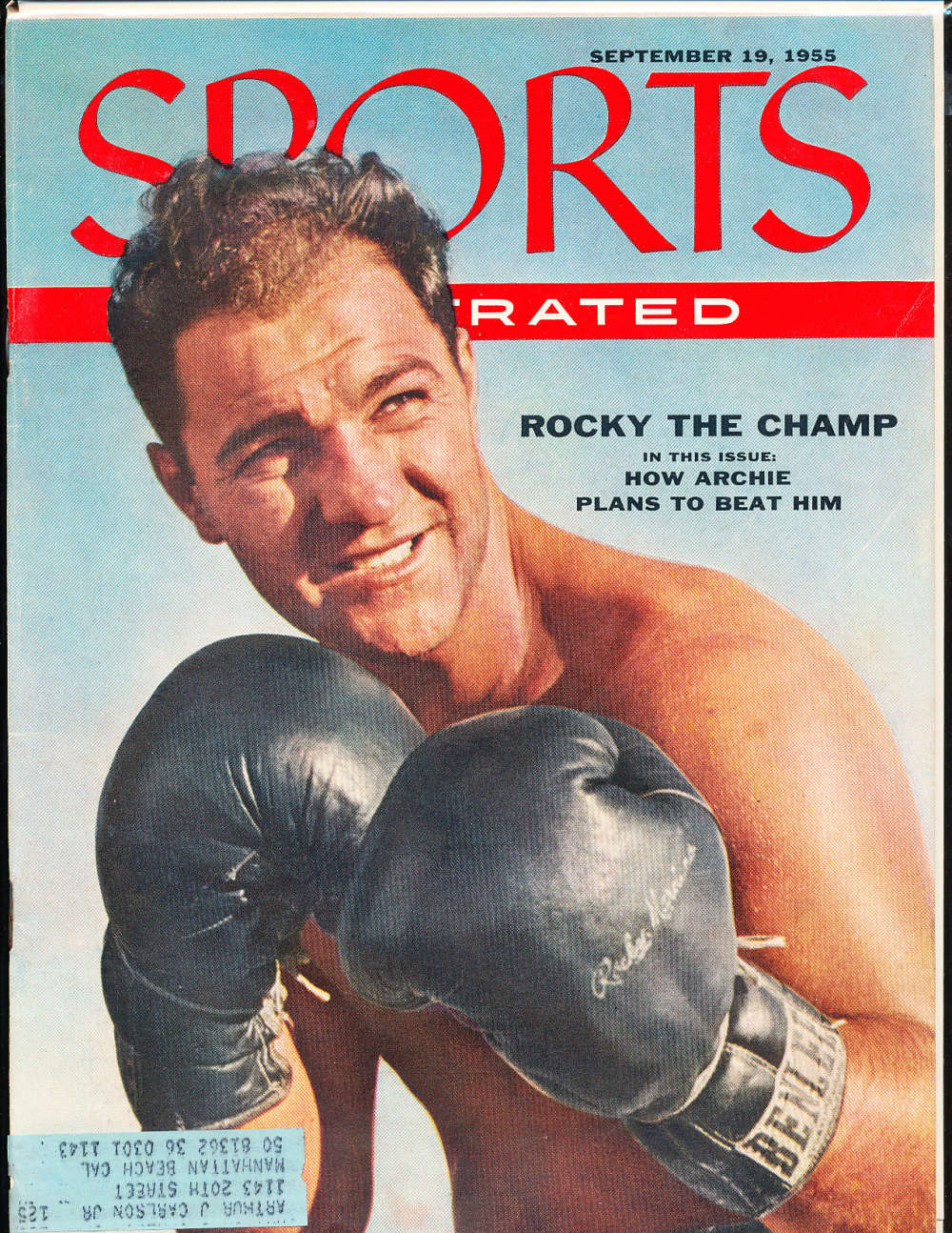 1955  September 19  Rocky marciano Boxing Sports Illustrated em bx1