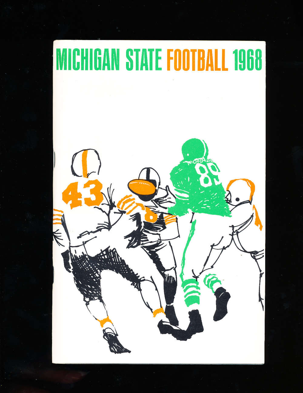 1968 Michigan state Football Media Press Guide