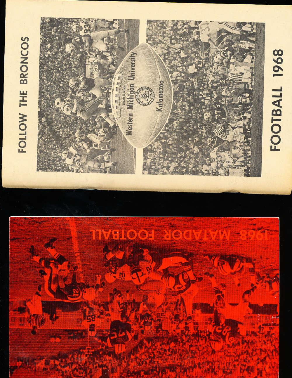1968 Western Michigan Football Media Press Guide CFBmg0