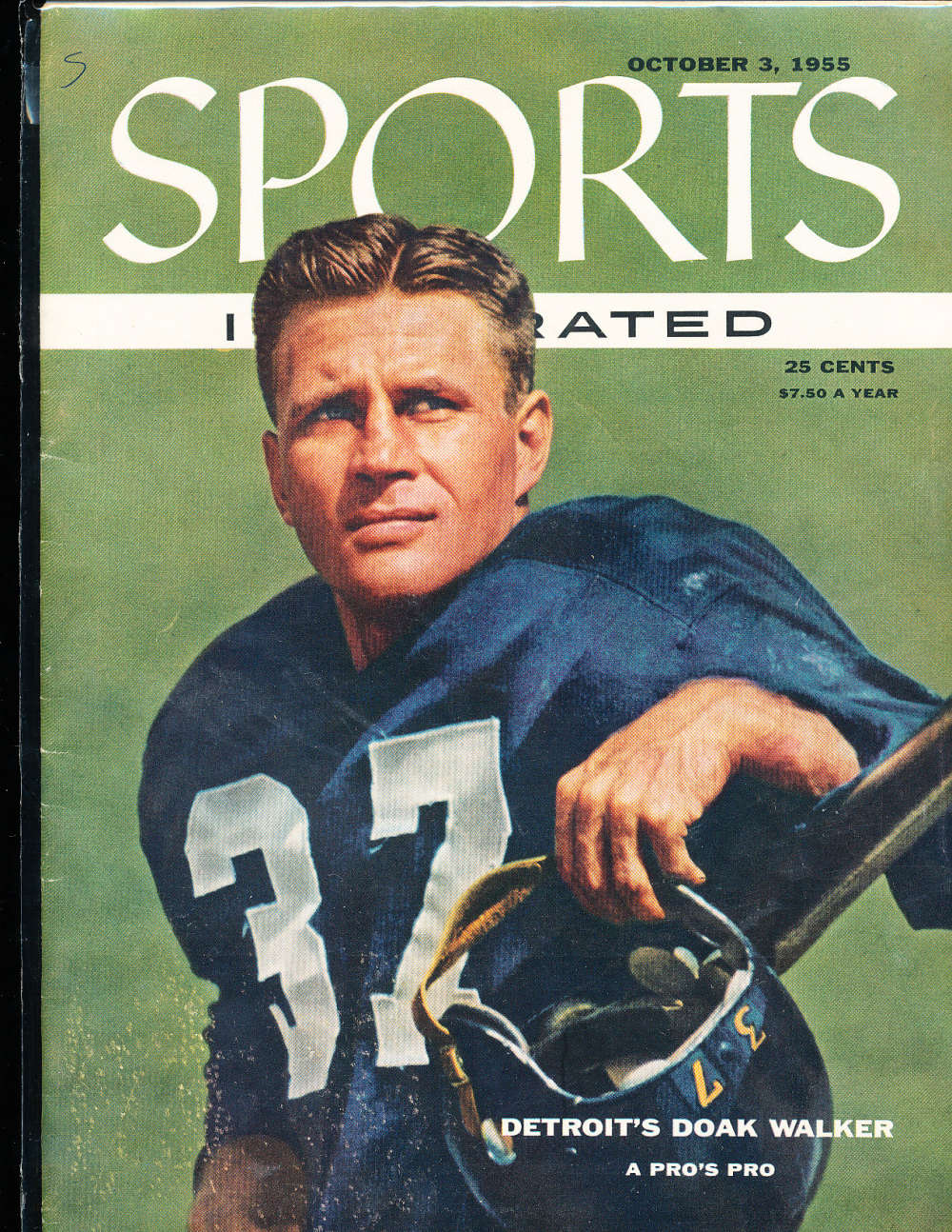 1955, October 3, doak walker Lions Sports Illustrated no label newsstand