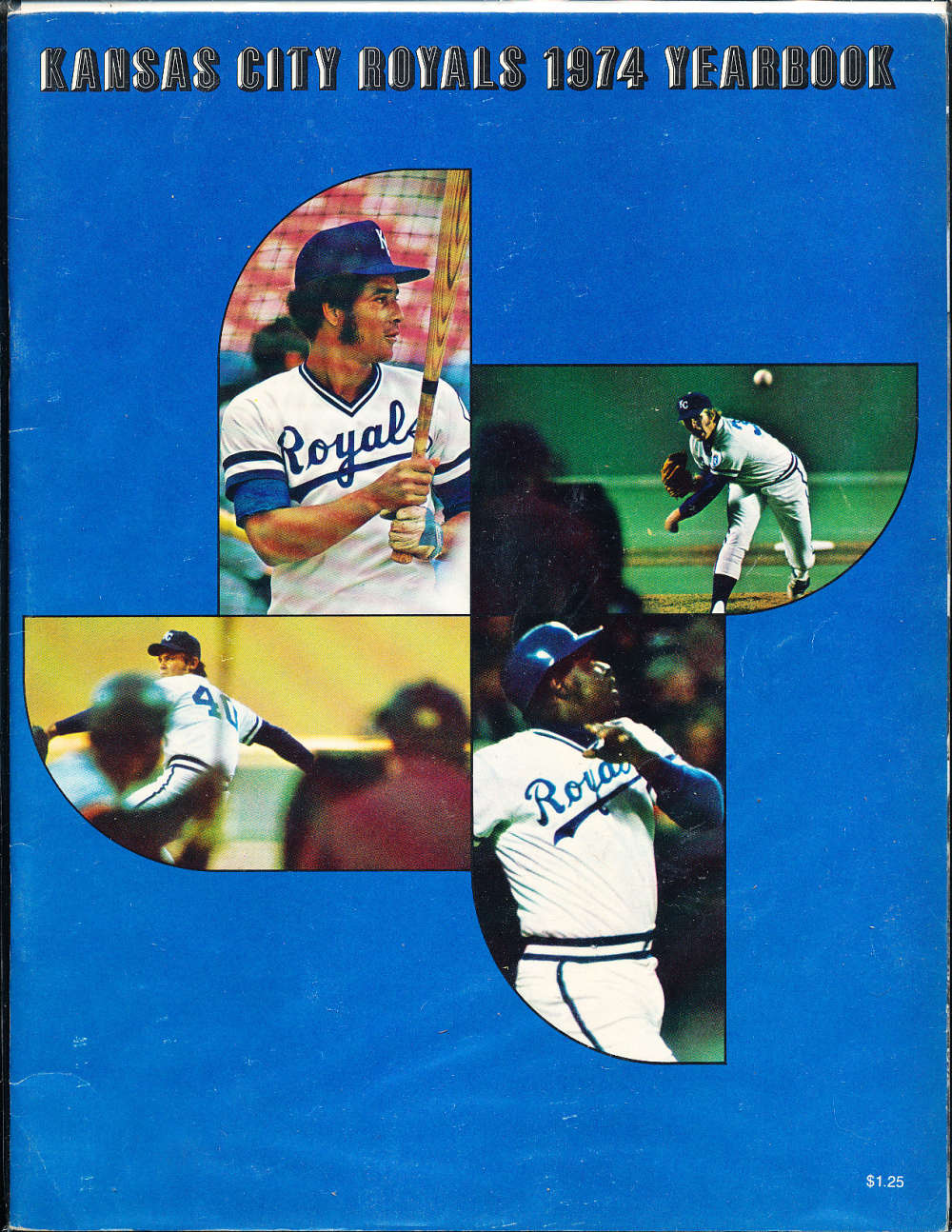 1974 Kansas city Royals baseball yearbook