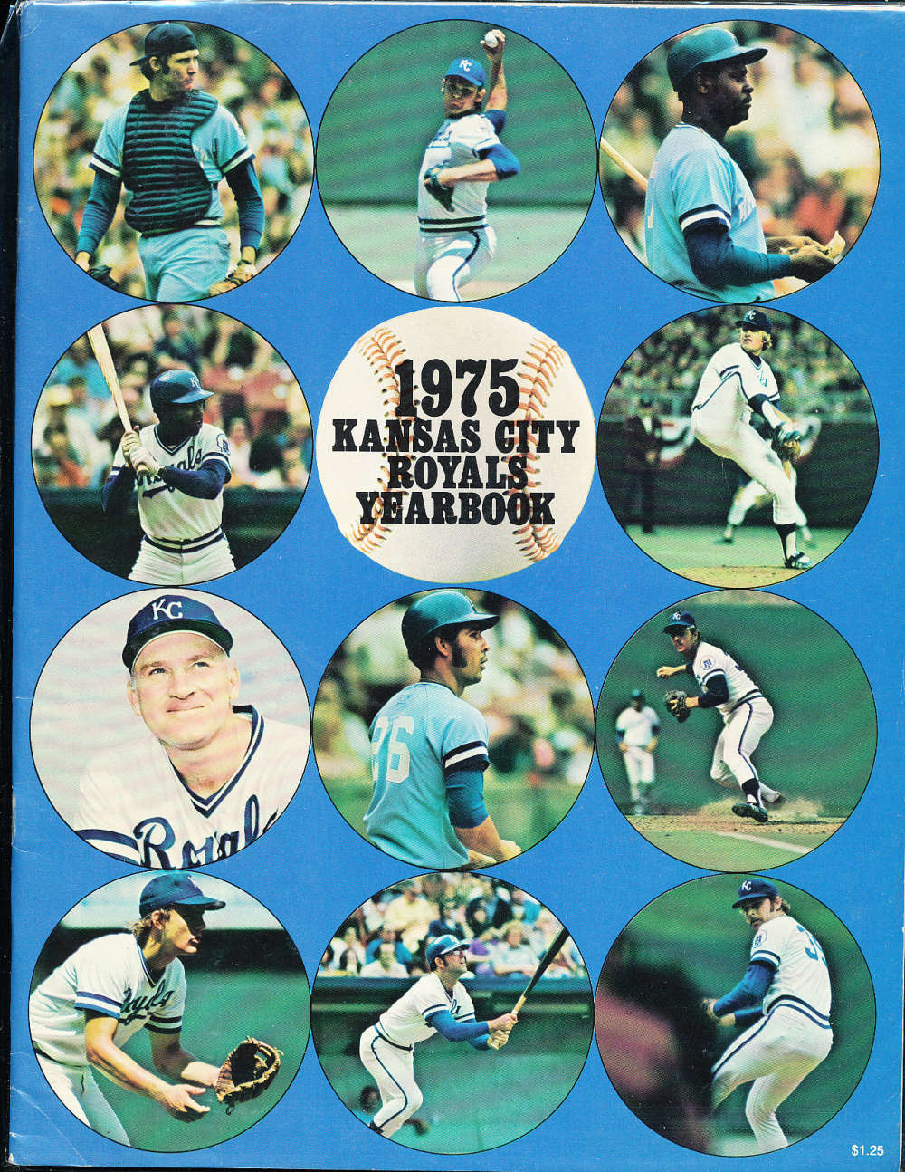 1975 Kansas city Royals baseball yearbook