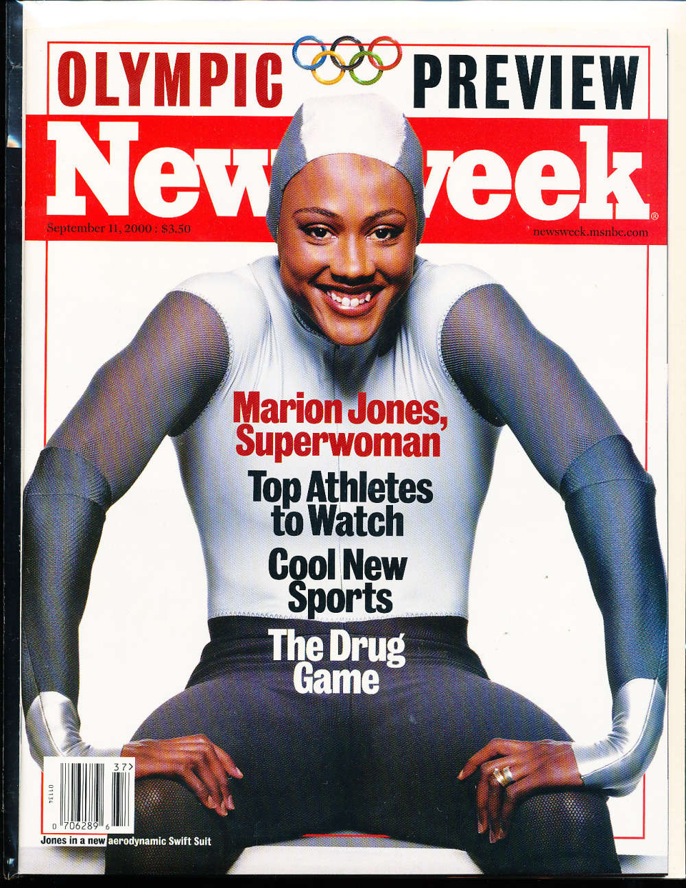 Marion Jones 2000, 9/11 Newsweek magazine no label newsstand nm  rwa4