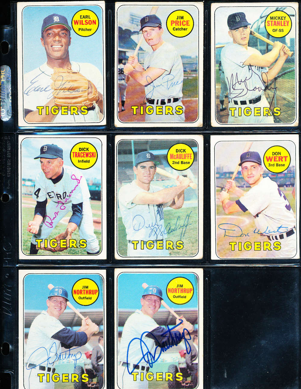 Jim Price #472  Detroit Tigers  1969 Topps SIGNED