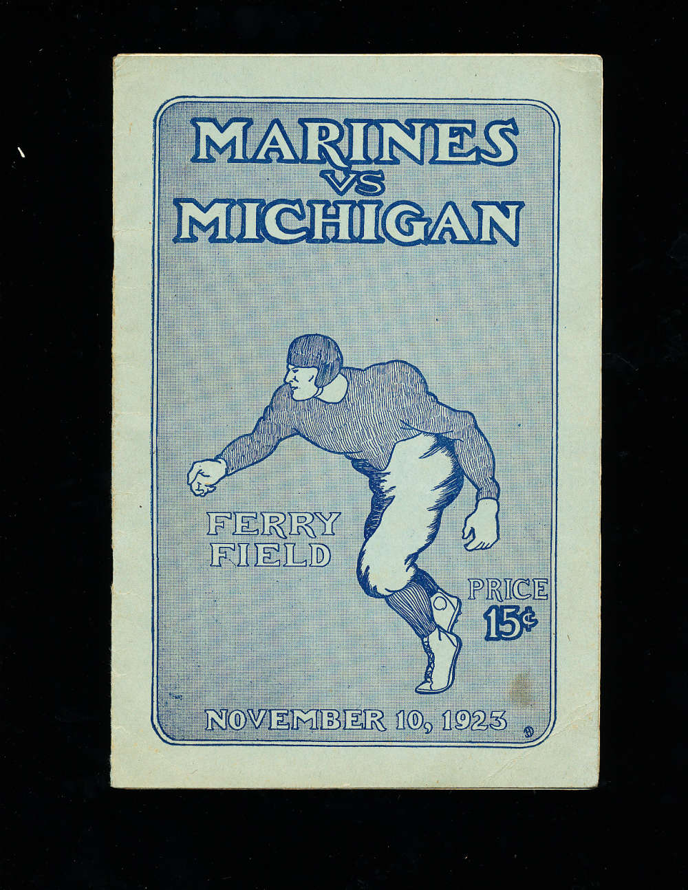 11/10 1923 Marines vs Michigan Football Program National Champions!