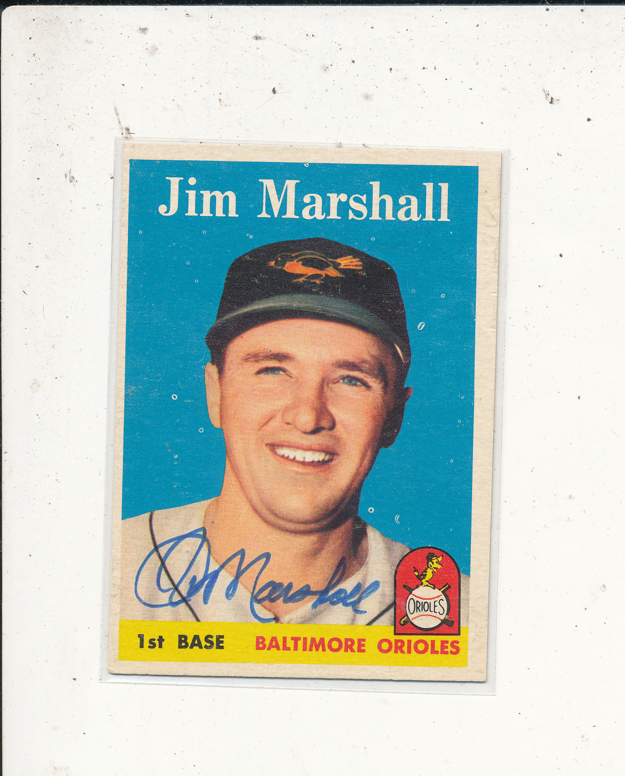 #441 Jim Marshall Orioles Signed 1958 Topps Card