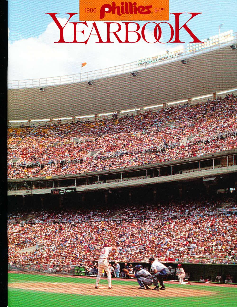 1986 Philadelphia Phillies Baseball Yearbook  b1