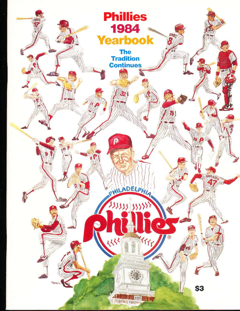 1984 Philadelphia Phillies Baseball Yearbook  b1