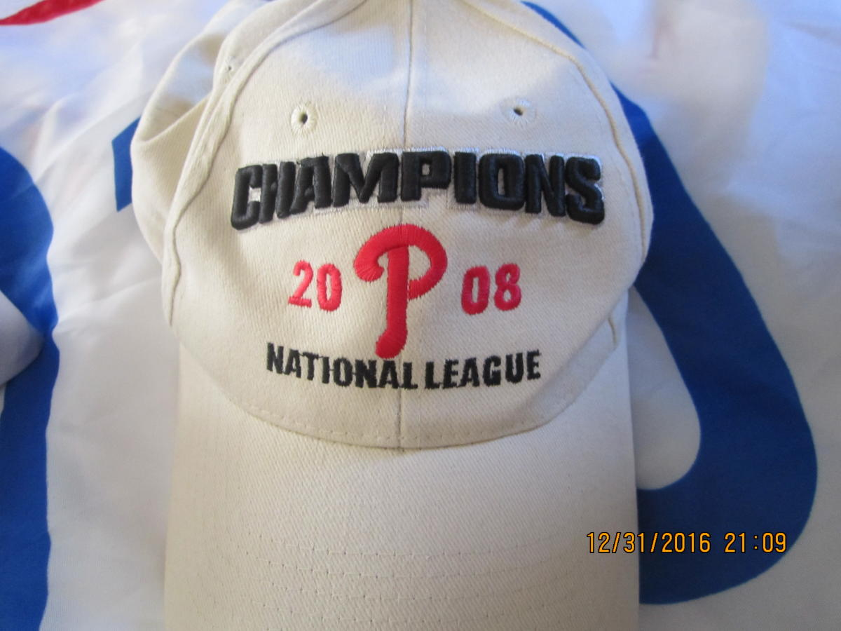 Philadelphia Philllies 2008 National League Champions ajdustable hat
