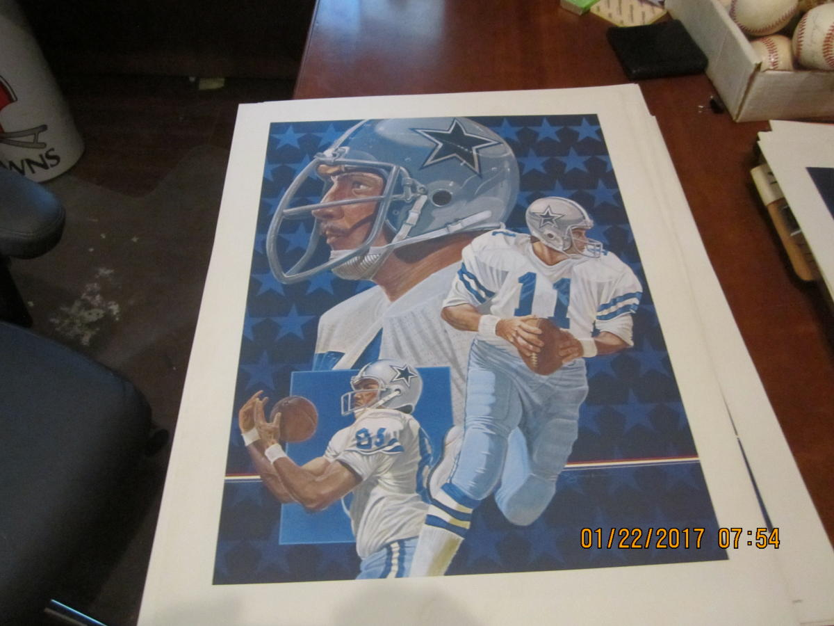 1982 Danny White Dallas Cowboys Print 24x18 RJones