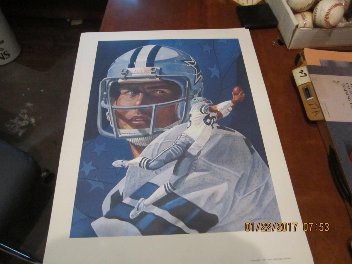 1982 Drew Pearson & Randy White Dallas Cowboys Print 24x18 RJones