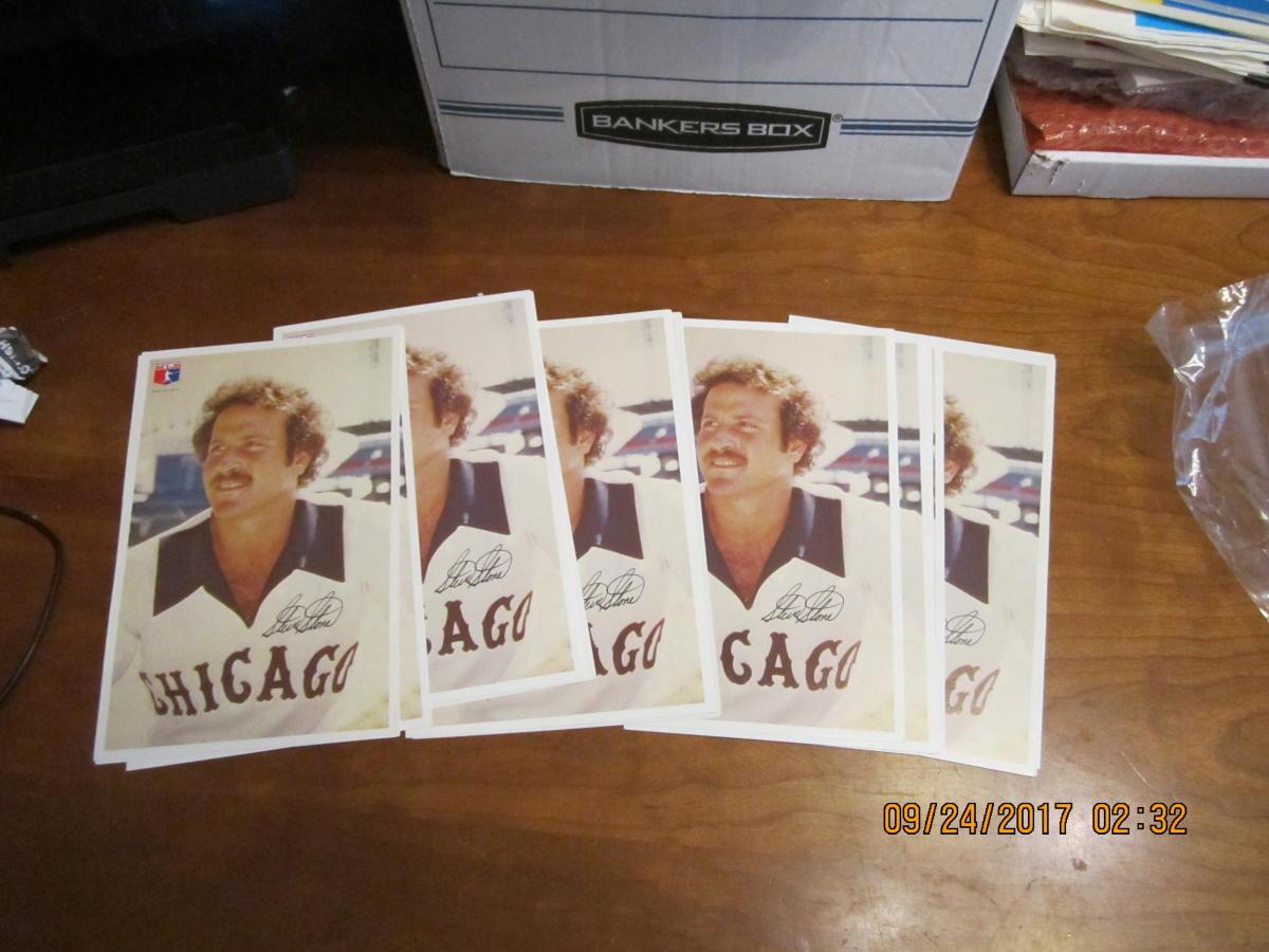10 Steve Stone Chicago White Sox 1977 Team issue card 9x6