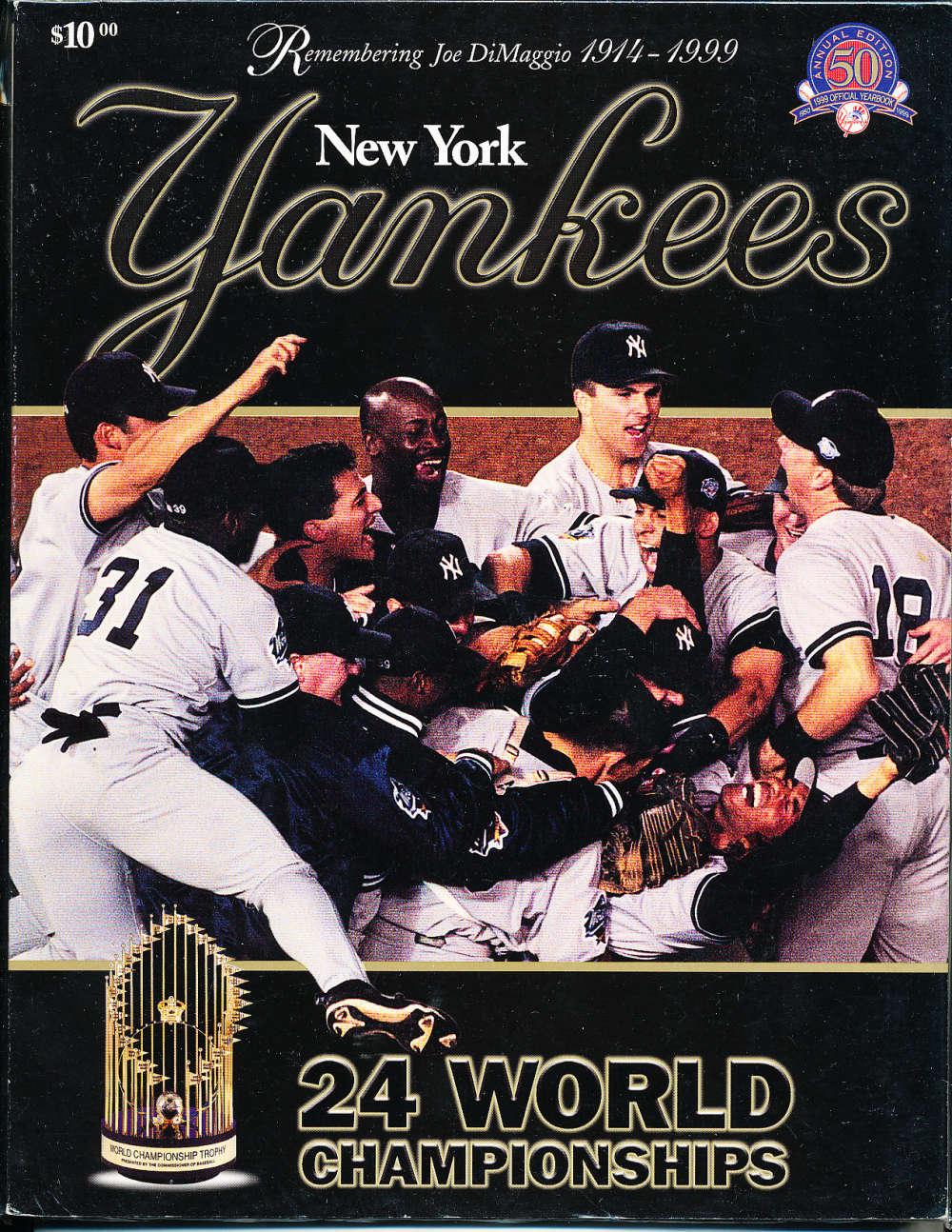 1999 New York Yankees Baseball Yearbook
