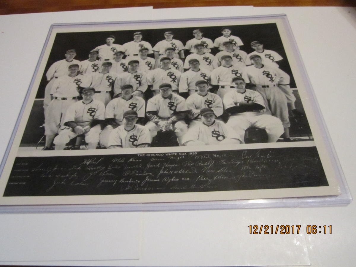 1935 Chicago White Sox Original Hamlins Saf-t-shav razor Team Picture card em