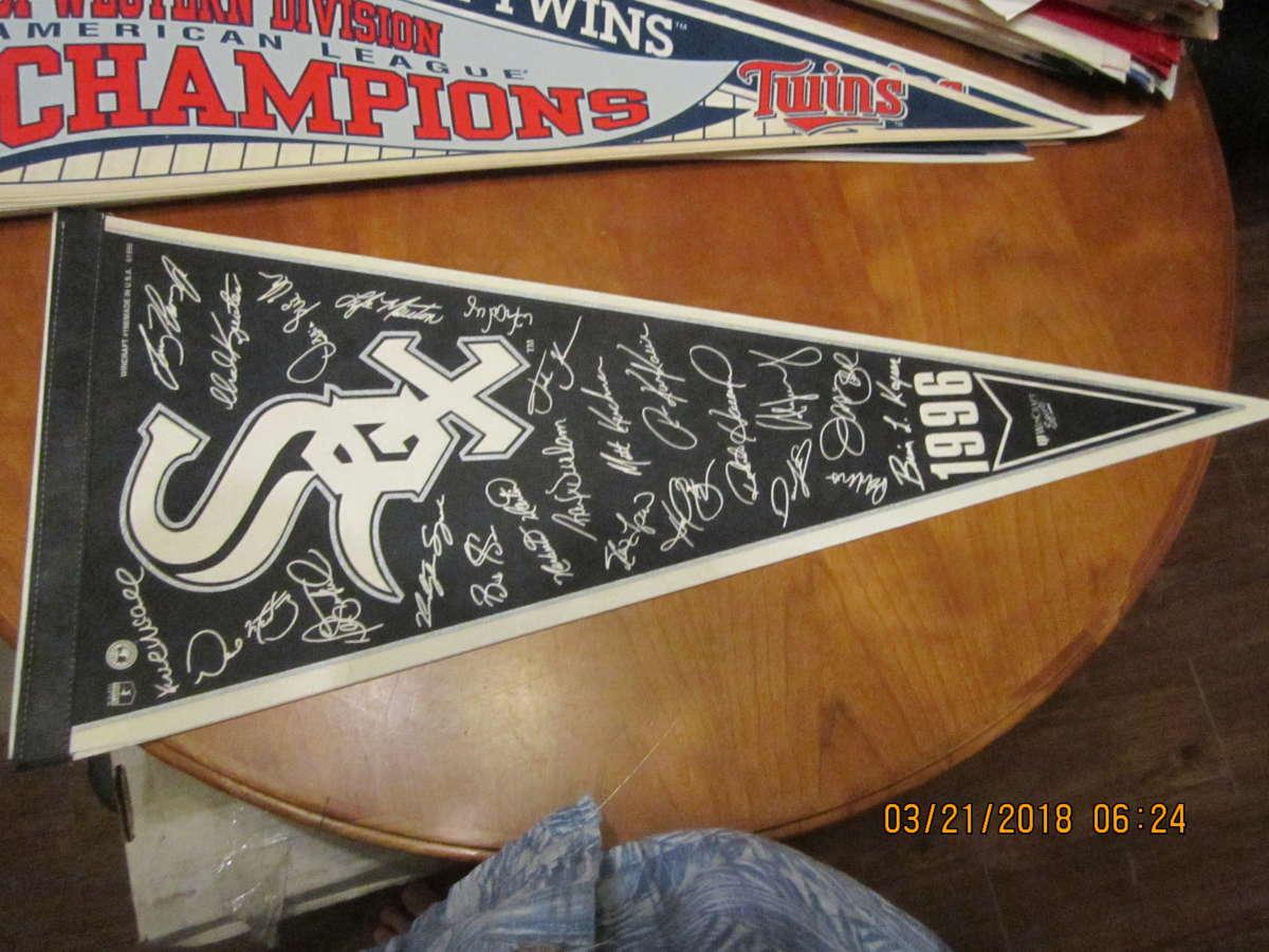 1996 Chicago White sox signature pennant