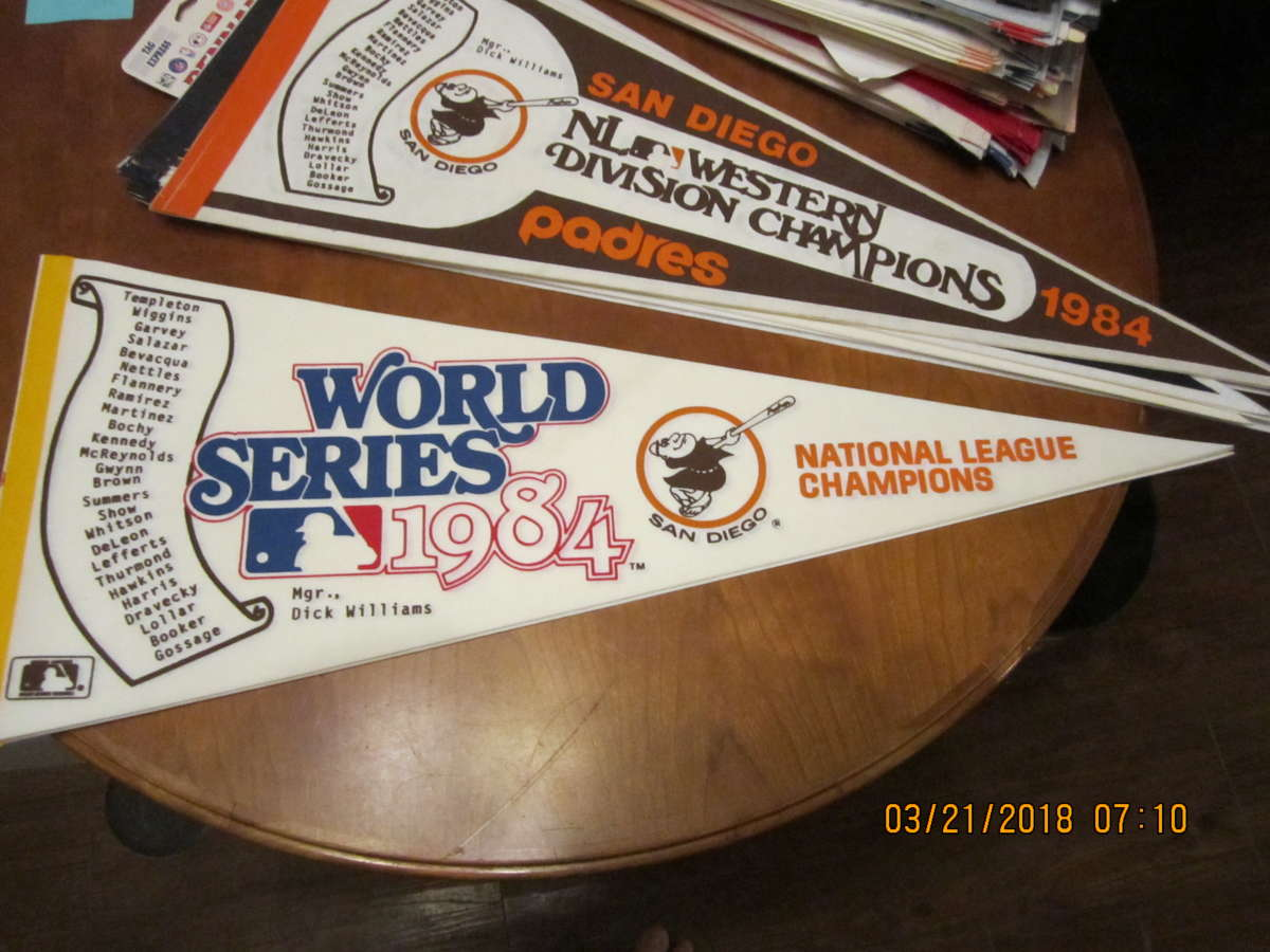 1984 San Diego Padres World Series pennant scroll