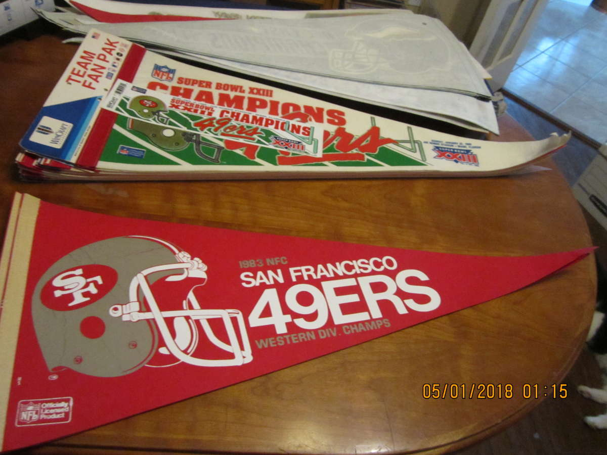 1983 NFC San Francisco 49ers western div. champions pennant bx2