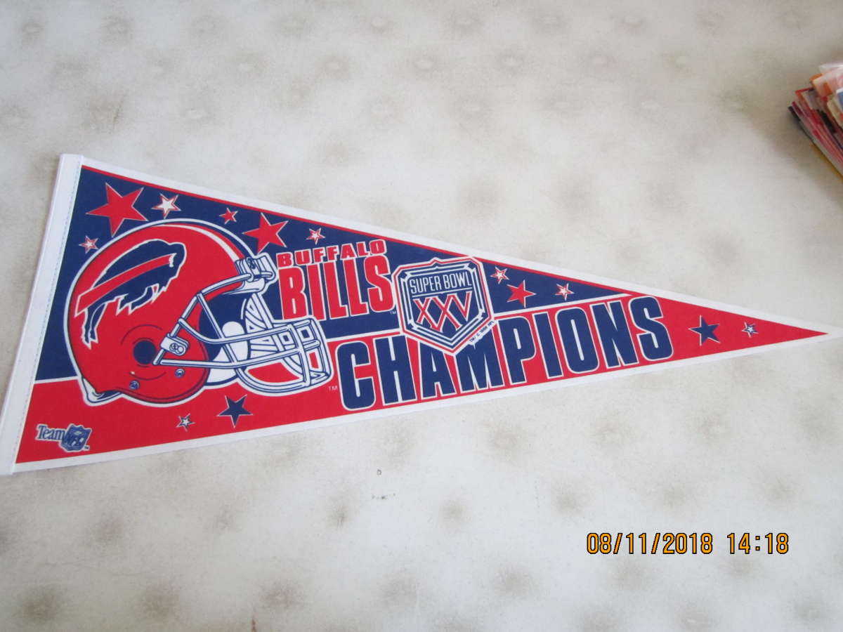 1991 Buffalo Bills Superbowl XXV pennant 29.5