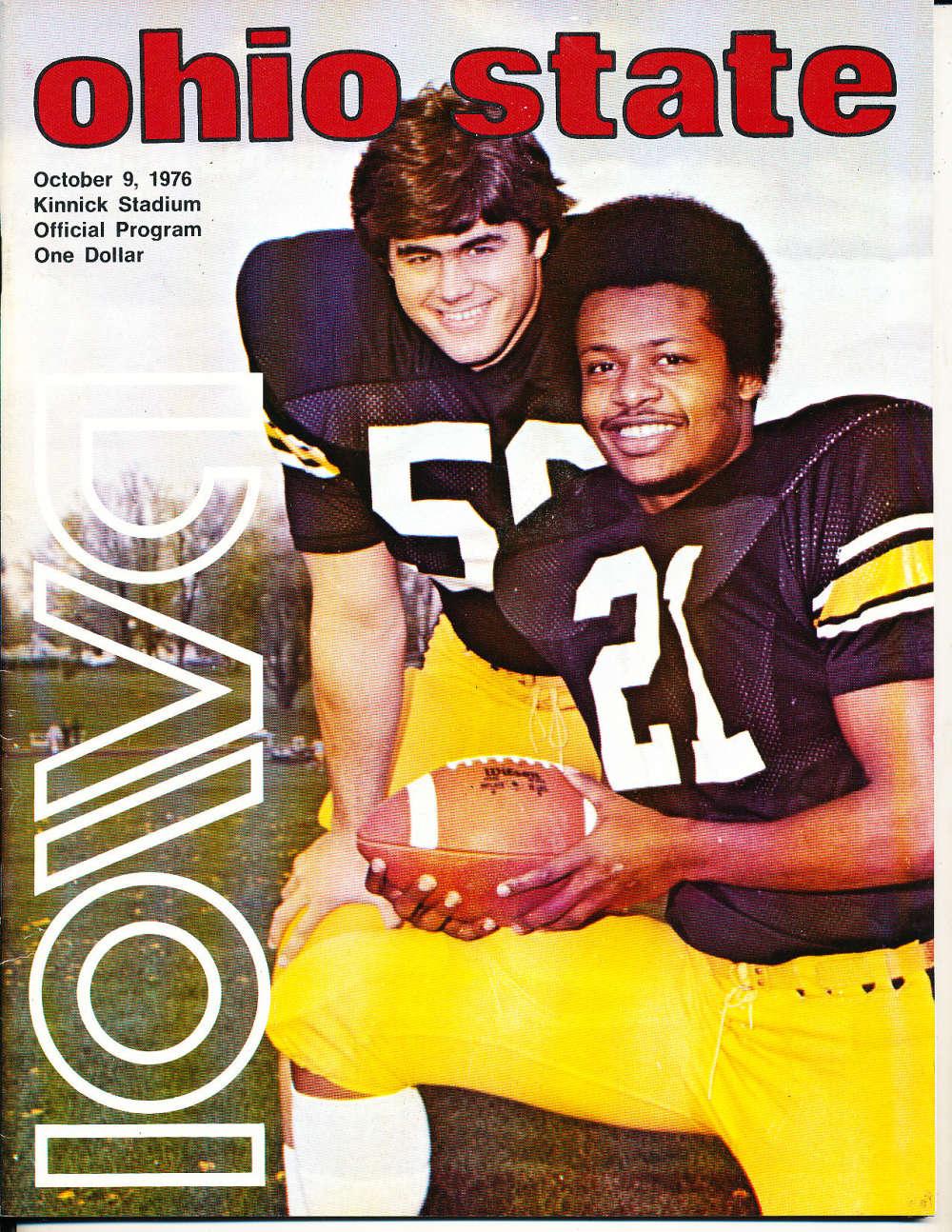 10/9 1976 Ohio State vs Iowa football program Cfbx22