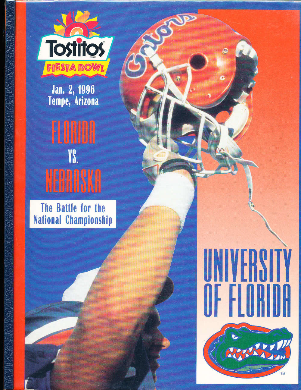 1/2 1996 University of Florida Football fiesta bowl Championship media guide cfbmg49