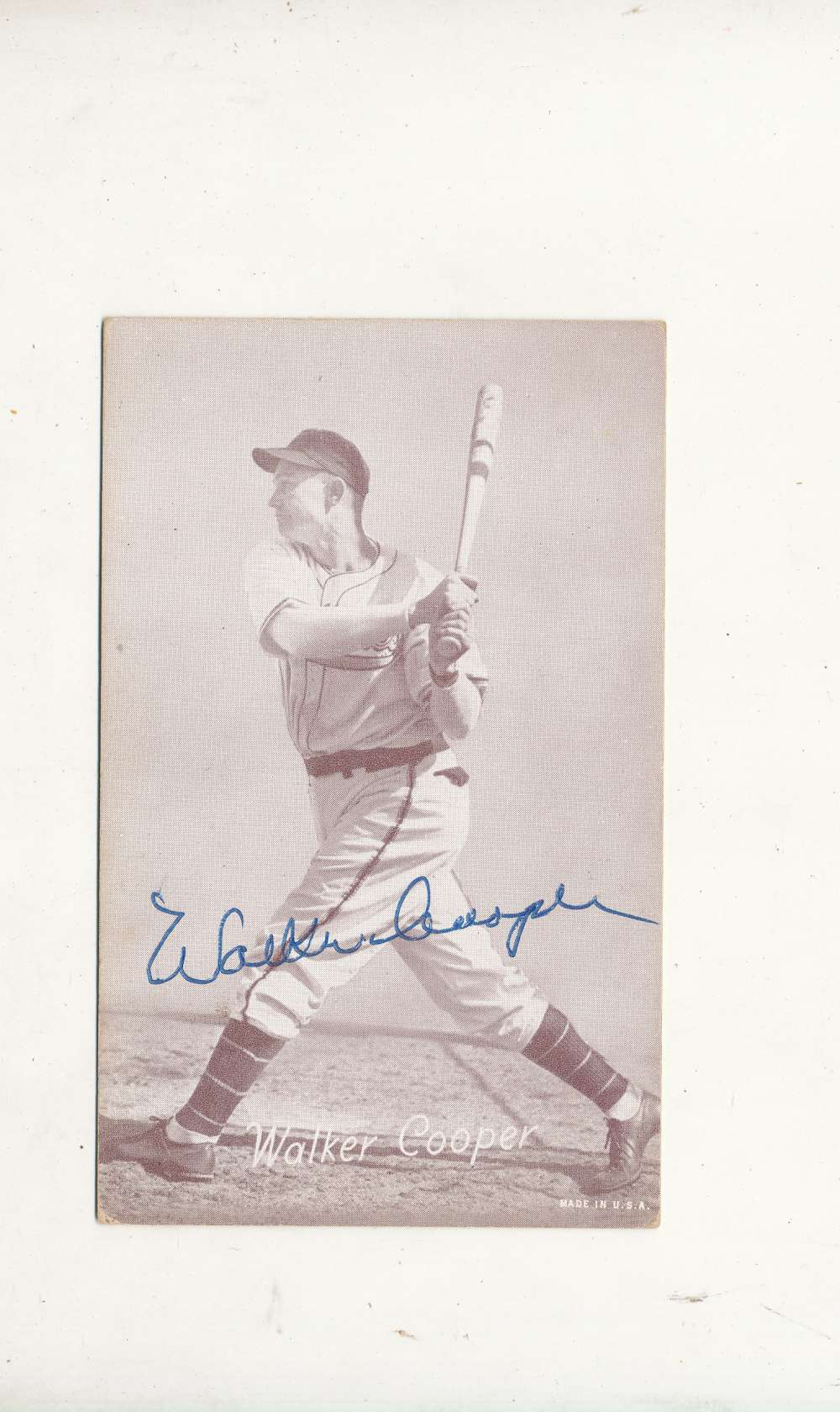 Walker Cooper Signed 1946-1966 exhibit card