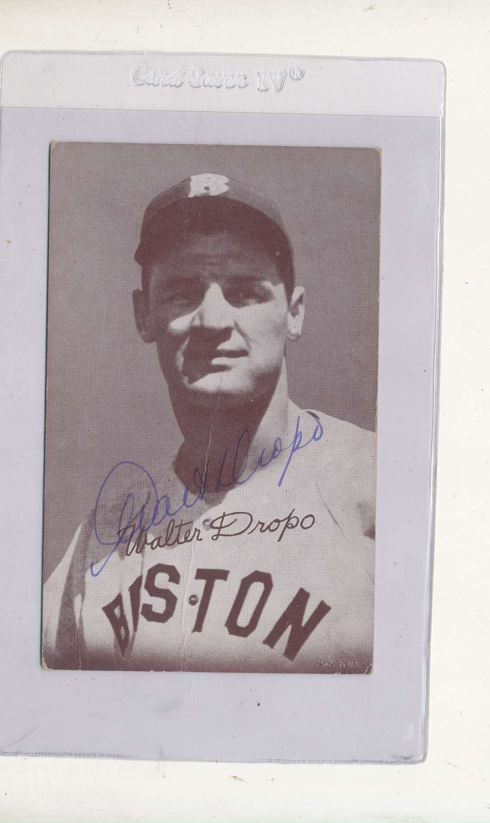 Walter Dropo Boston Red Sox Signed 1946-1966 exhibit card
