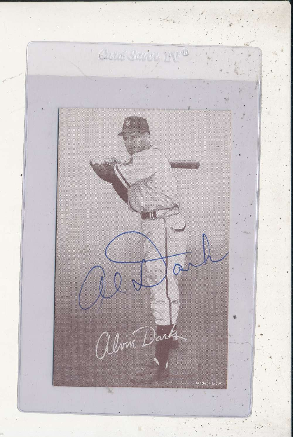 Al Dark New York Giants Signed 1946-1966 exhibit card
