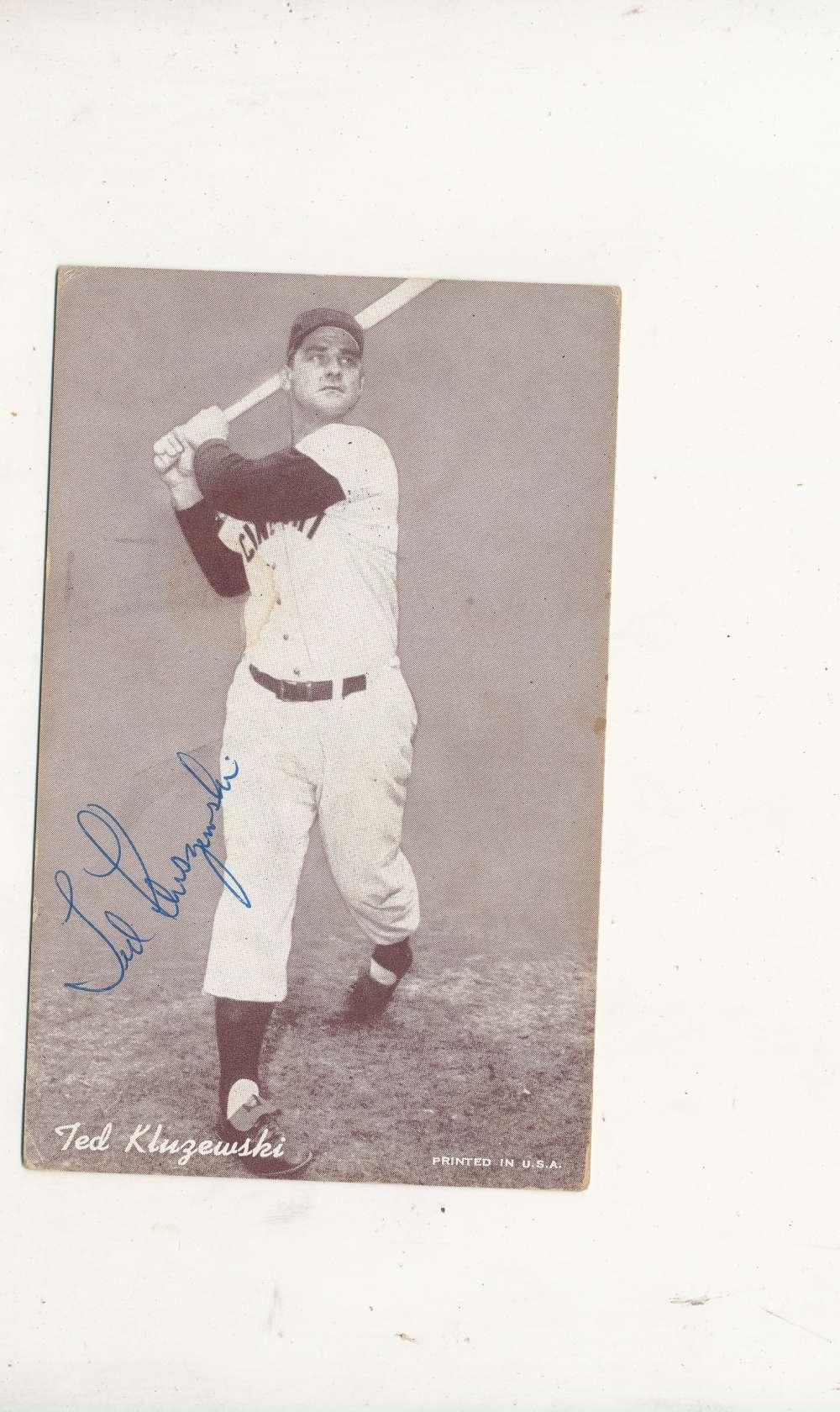Ted Kluzewski reds  Signed 1946-1966 exhibit card