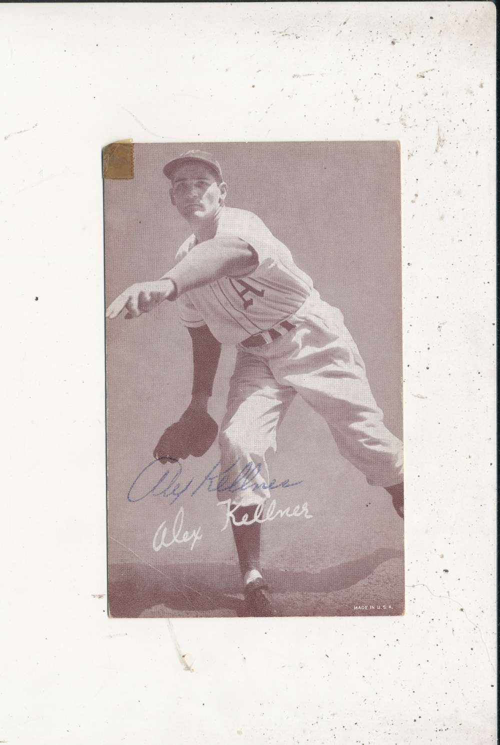 Alex Kellner A's  Signed 1946-1966 exhibit card