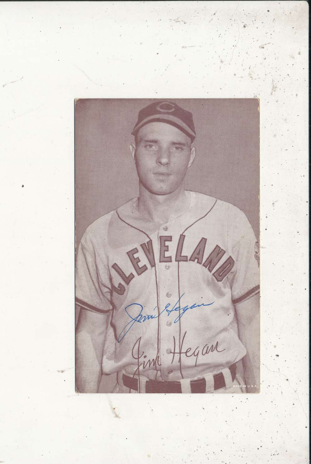 Jim Hegan Indians  Signed 1946-1966 exhibit card