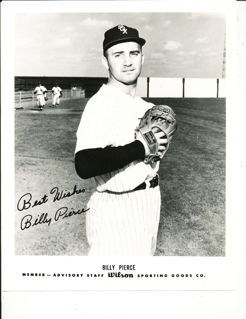 Billy Pierce Chicago White Sox Wilson 8x10 advisory staff picture