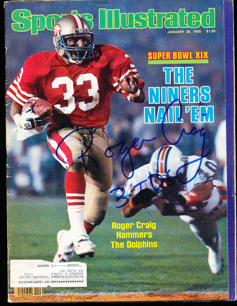 1/28 1985 Roger Craig 49ers Signed Sports Illustrated