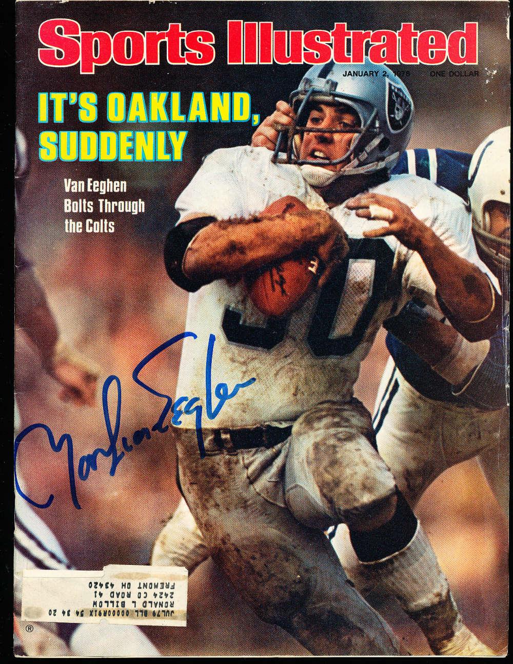1/2 1978 Martin Van Eeghen Raiders Signed Sports Illustrated