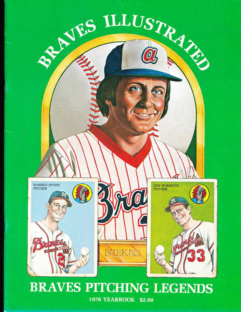 1978 Atlanta Braves Baseball Yearbook nm a1
