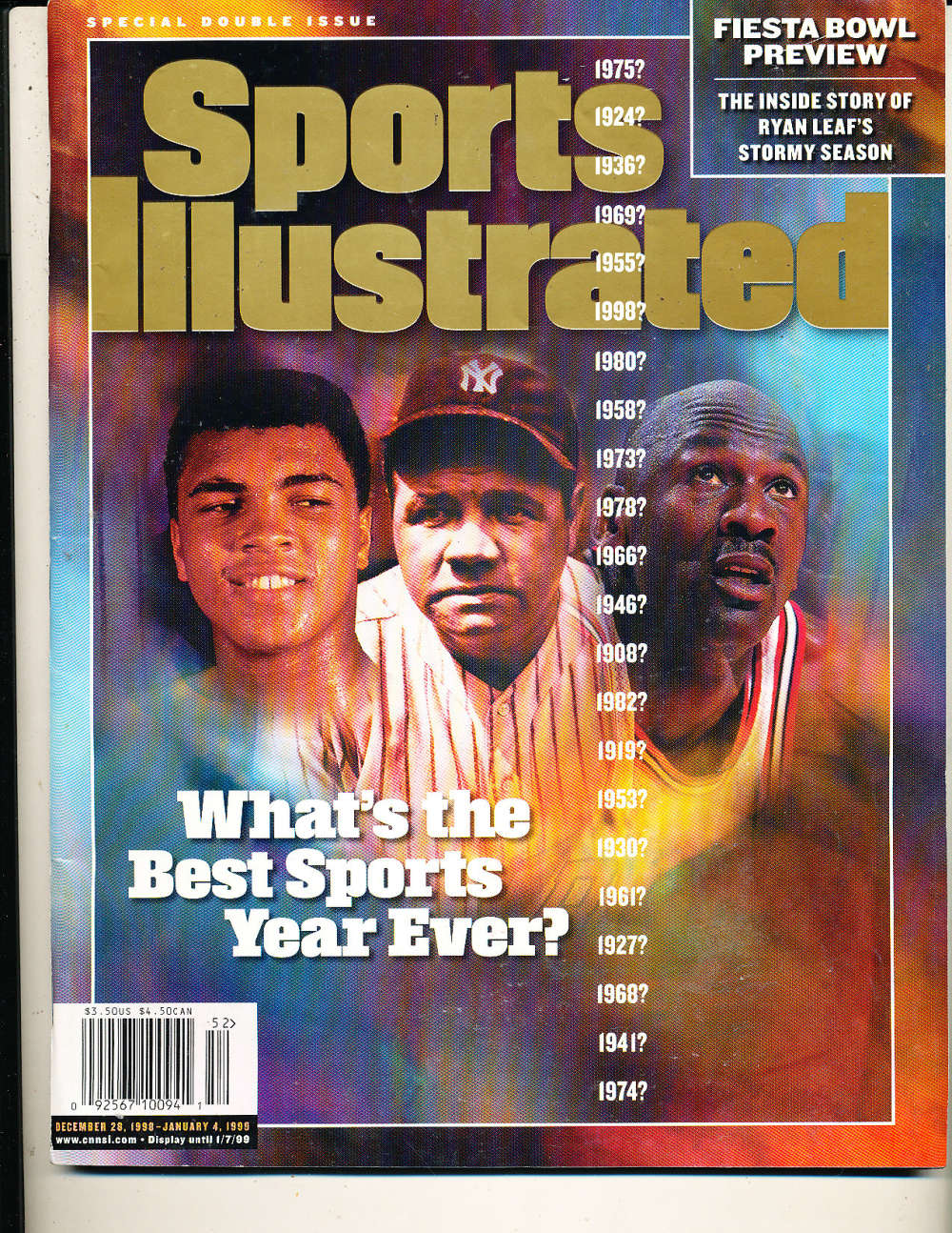 1/4 1999 Michael Jordan Babe Ruth Sports Illustrated Newsstand No Label s4