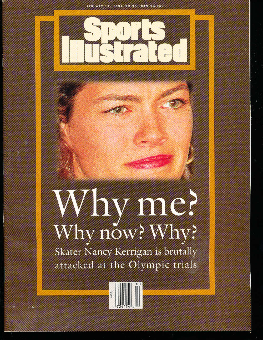 1/17 1994 Nancy Kerrigan Sports Illustrated Newsstand No Label s4