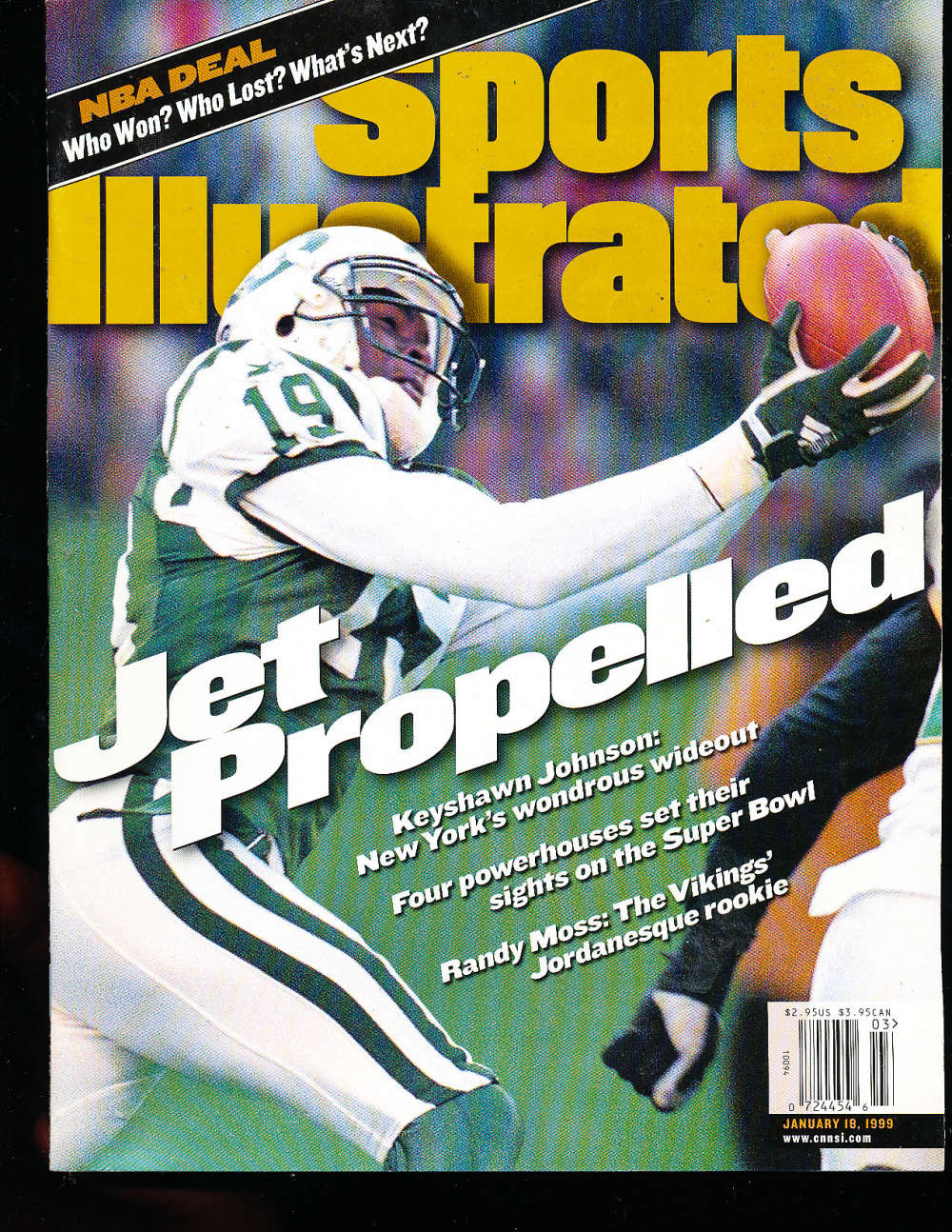 1/18 1999 Keyshawn Johnson New York Jets Sports Illustrated Newsstand No Label s4