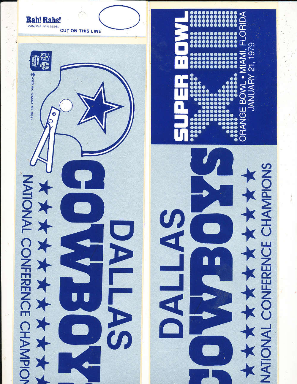 Dallas Cowboys SBXIII bumper sticker bx1