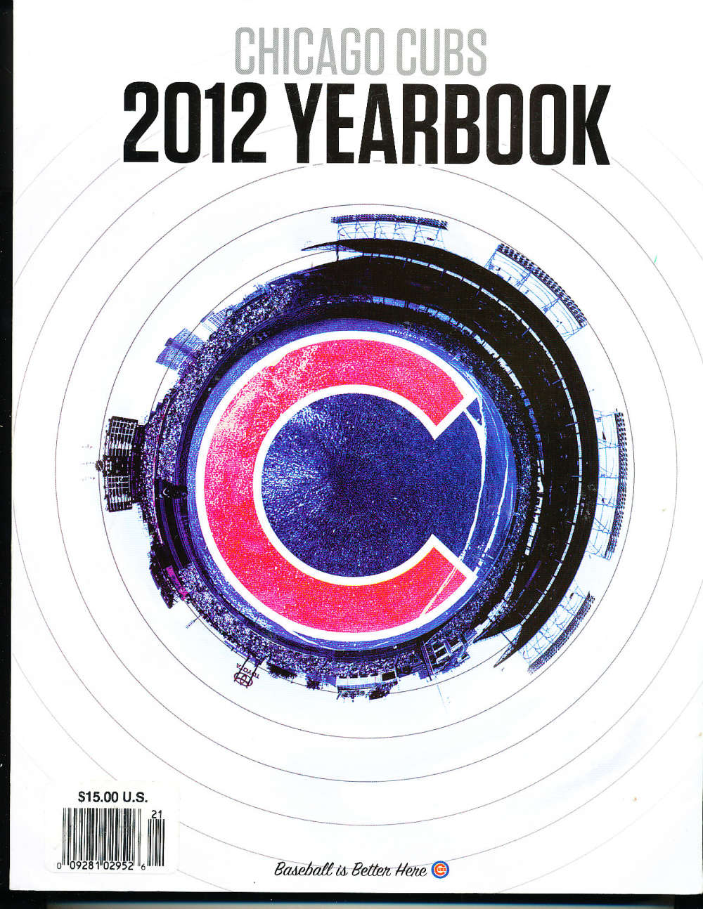 2012 chicago Cubs Yearbook nm   bxy3