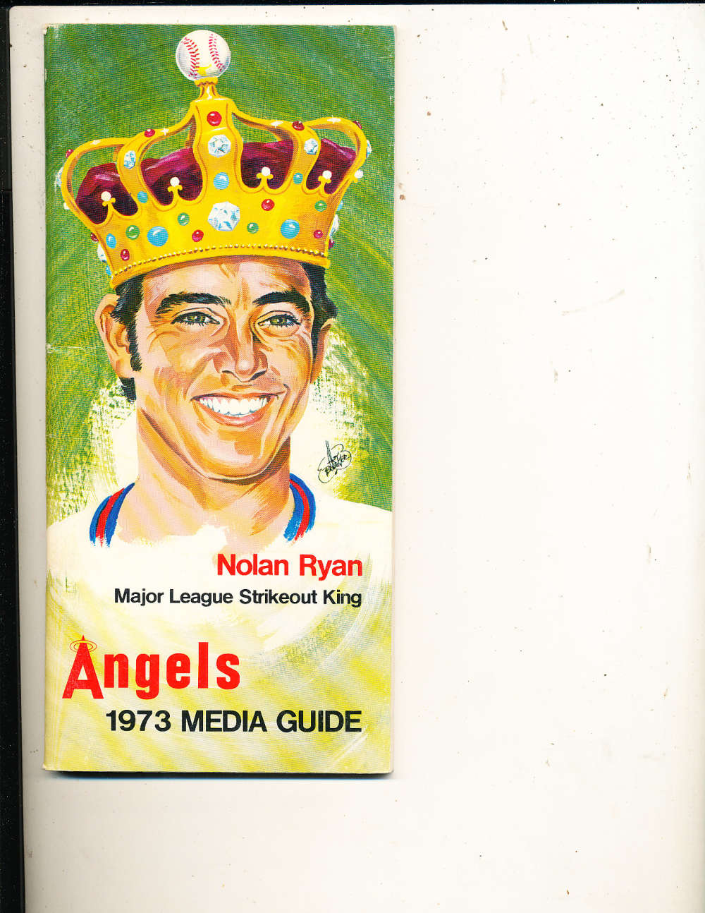 1973 California Angels MLB Media Press Guide MLBmg20 Nolan Ryan
