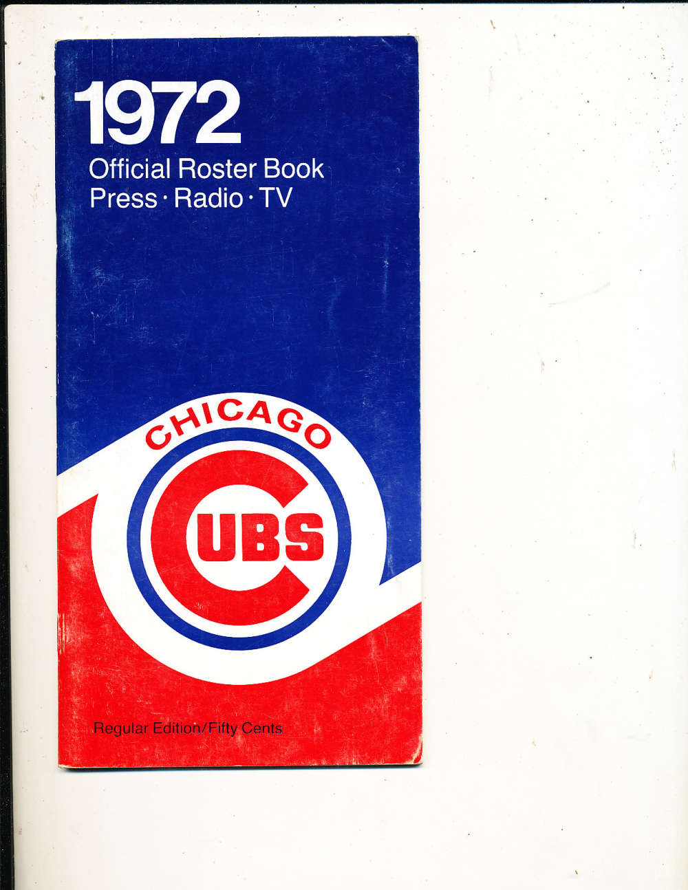 1972 Chicago Cubs MLB Media Press Guide MLBmg20