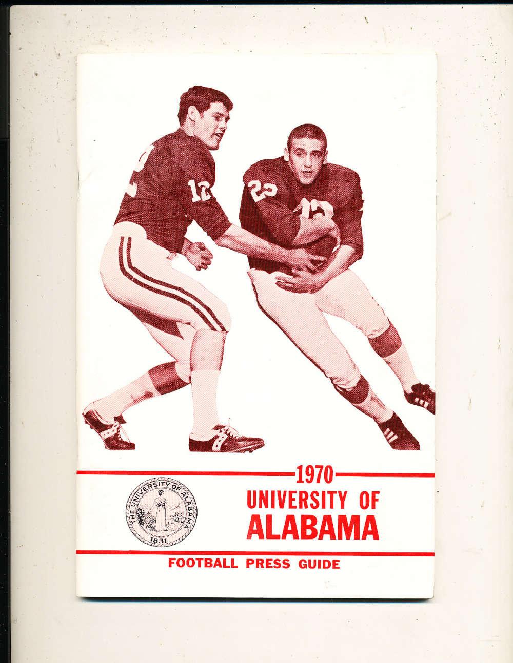 1970 University of Alabama Football Guide em