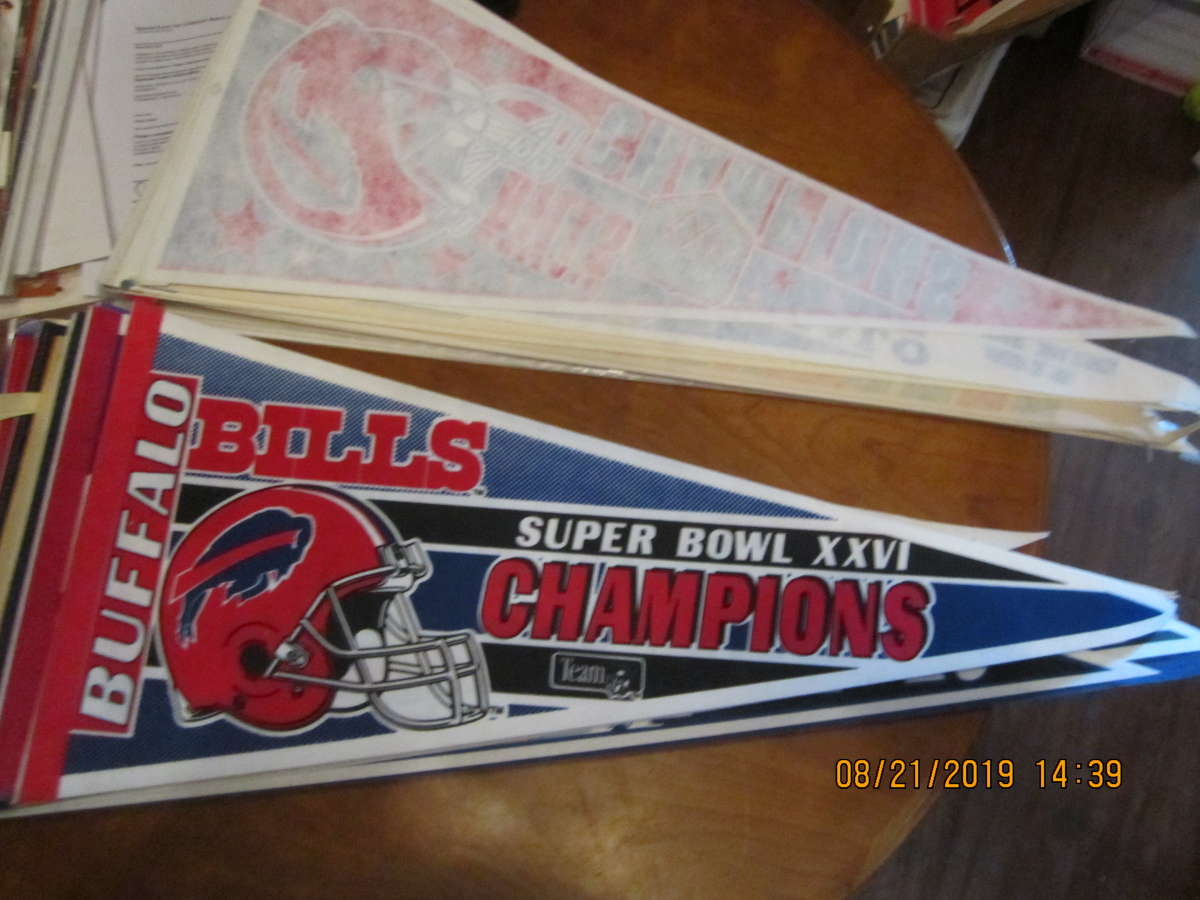 Buffalo Bills Super bowl XXVI champions nm Pennant