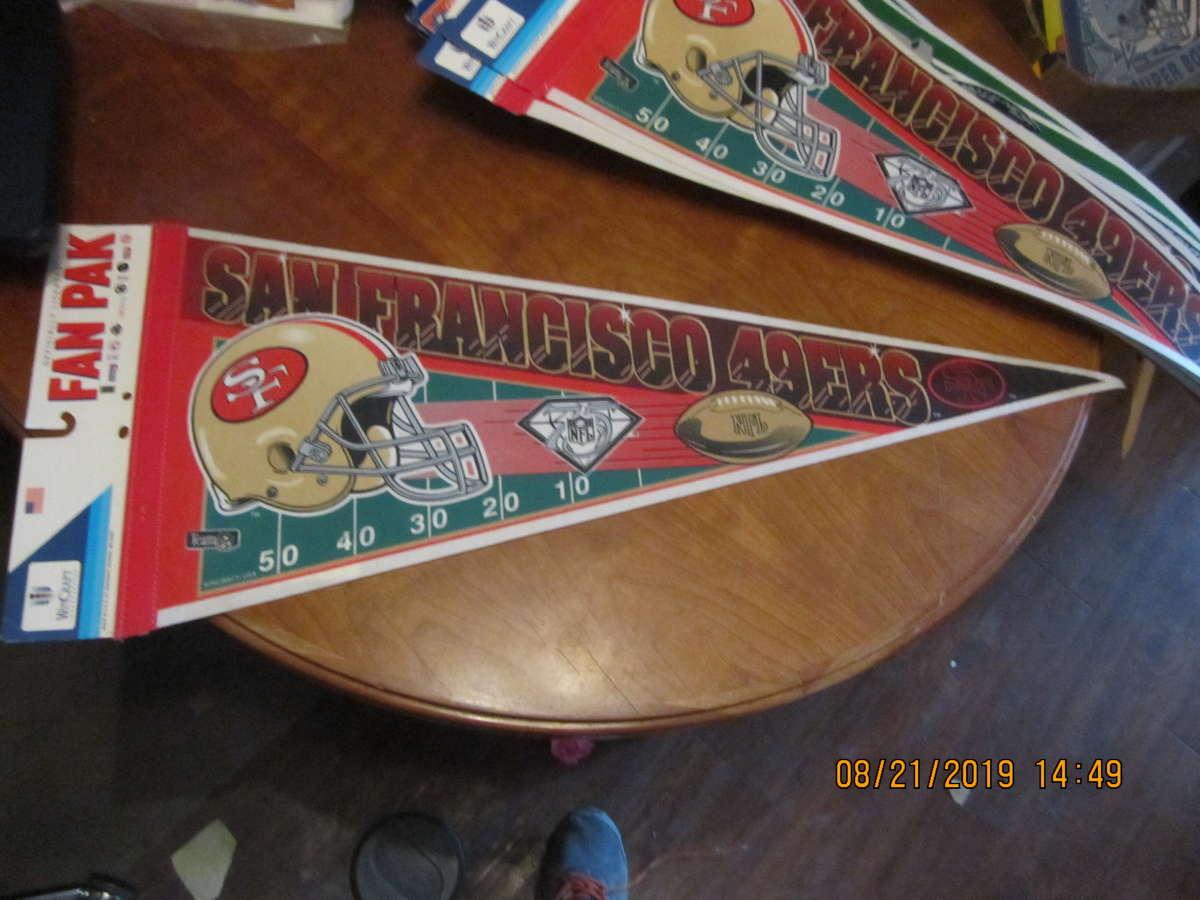 San Francisco 49ers 75th logo Pennant