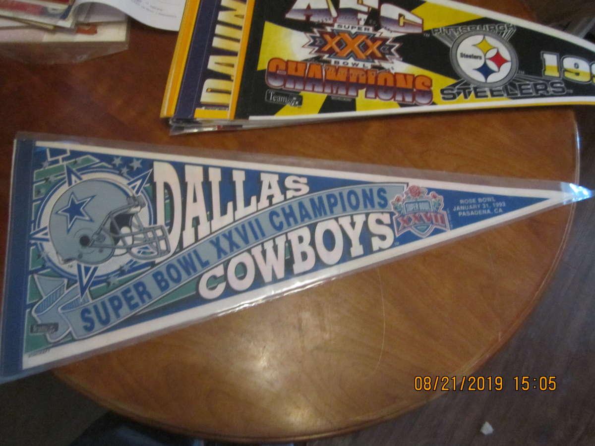 Dallas Cowboys Super bowl XXVII champions Pennant
