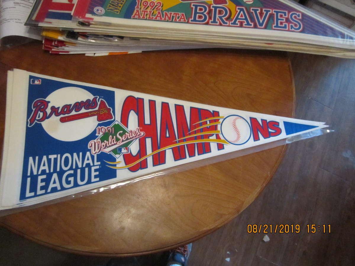 1991 Atlanta Braves NL Champions World Series Pennant
