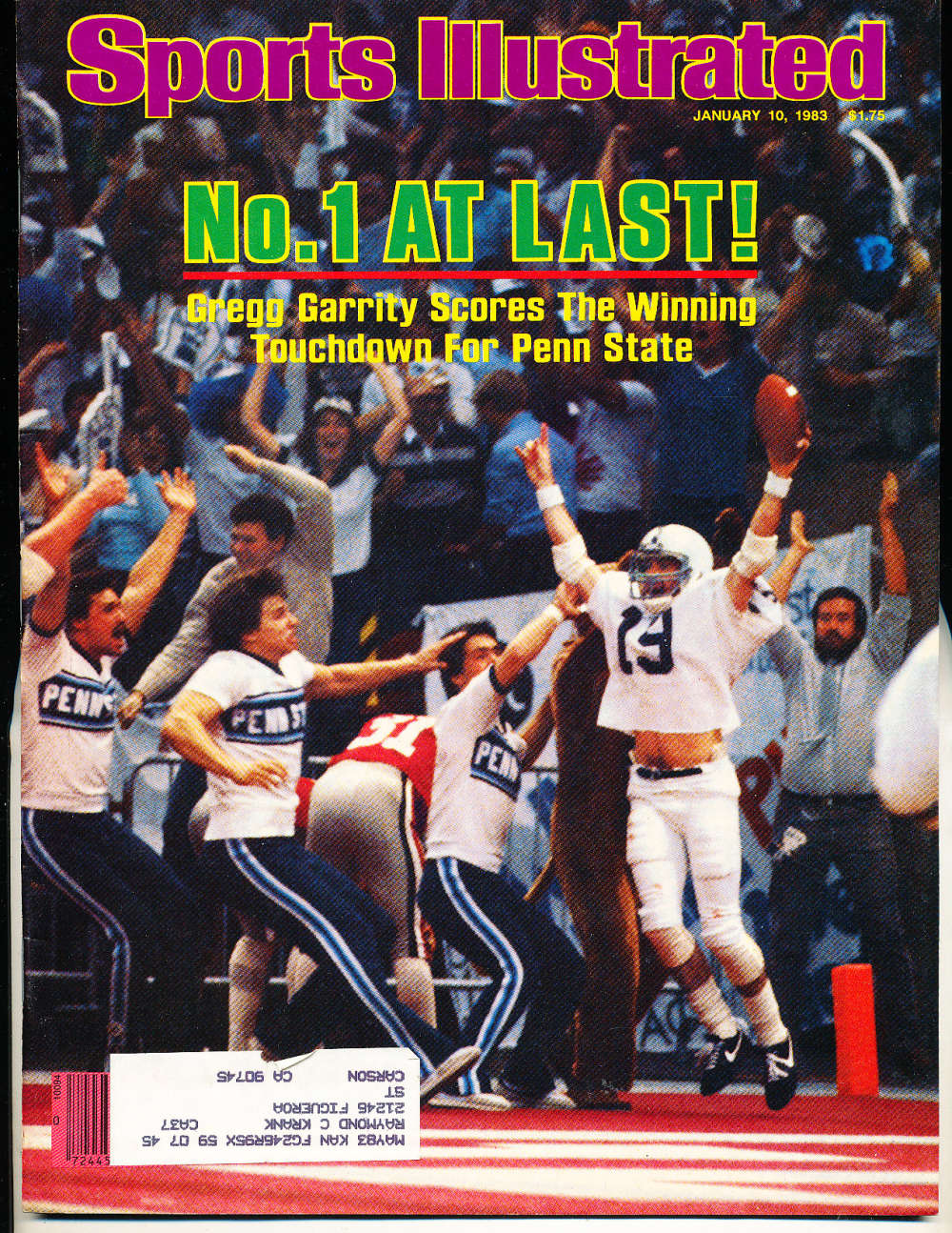 1/10 1983 Sports Illustrated Penn State Gregg Garrity  si6