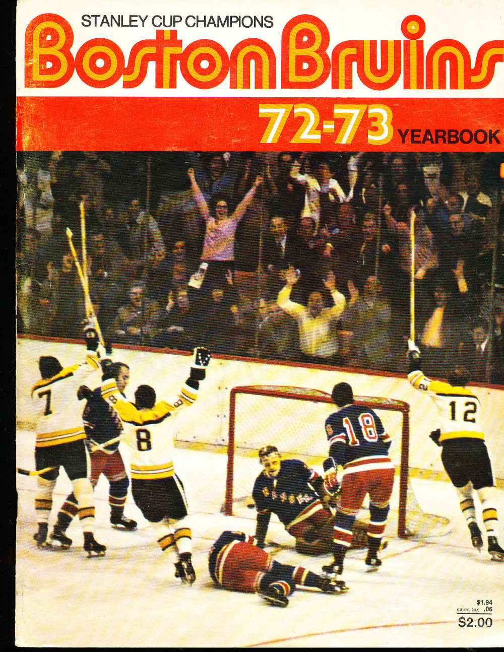 Boston Bruins 1972 Yearbook Stanley Cup en NHL1