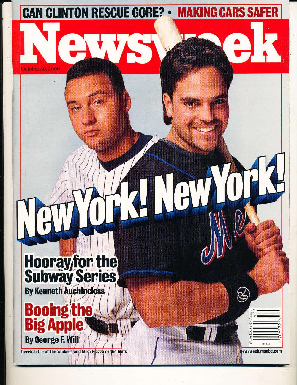 10/30 2000 Newsweek Derek Jeter Yankees mike Piazza Mets magazine bx1