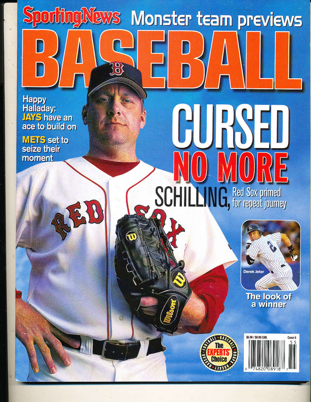 2005 The Sporting News Baseball Curt Schilling Red Sox nm bx1